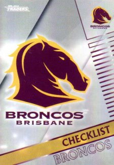 2018 NRL Traders Parallel Pearl Special PS1 Broncos Checklist