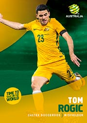2017/18 Tap N Play FFA Football A-League Soccer Parallel Card 15 Tom Rogic Socceroos