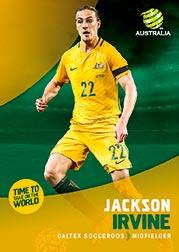 2017/18 Tap N Play FFA Football A-League Soccer Parallel Card 5 Jackson Irvine Socceroos