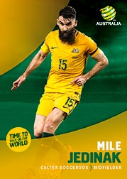 2017/18 Tap N Play FFA Football A-League Soccer Parallel Card 6 Mile Jedinak Socceroos
