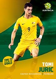2017/18 Tap N Play FFA Football A-League Soccer Parallel Card 7 Tomi Juric Socceroos