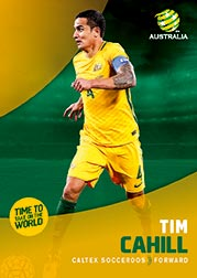 2017/18 Tap N Play FFA Football A-League Soccer Parallel Card 3 Tim Cahill Socceroos