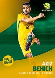 2017/18 Tap N Play FFA Football A-League Soccer Parallel Card 2 Aziz Behich Socceroos