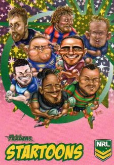 2018 NRL Traders Startoons Starter Version Pink SP5 Group A Header Card