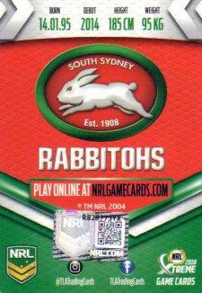2018 NRL Xtreme Signature Card Alex Johnston Rabbitohs