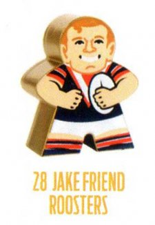 2018 NRL Xtreme Mini Footy Star Gold Figurine 28 Jake Friend Roosters