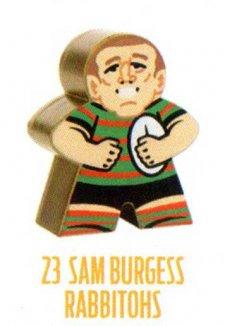 2018 NRL Xtreme Mini Footy Star Gold Figurine 23 Sam Burgess Rabbitohs