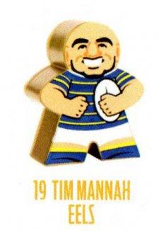 2018 NRL Xtreme Mini Footy Star Gold Figurine 19 Tim Mannah Eels