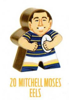 2018 NRL Xtreme Mini Footy Star Gold Figurine 20 Mitchell Moses Eels