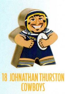 2018 NRL Xtreme Mini Footy Star Gold Figurine 18 Johnathan Thurston Cowboys