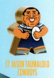 2018 NRL Xtreme Mini Footy Star Gold Figurine 17 Jason Taumalolo Cowboys
