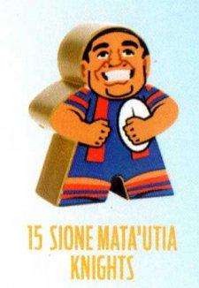 2018 NRL Xtreme Mini Footy Star Gold Figurine 15 Sione Mata'utia Knights