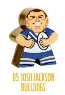 2018 NRL Xtreme Mini Footy Star Gold Figurine 5 Josh Jackson Bulldogs