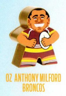 2018 NRL Xtreme Mini Footy Star Gold Figurine 2 Anthony Milford Broncos
