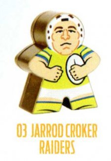2018 NRL Xtreme Mini Footy Star Gold Figurine 3 Jarrod Croker Raiders