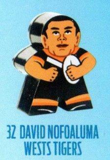 2018 NRL Xtreme Mini Footy Star Base Figurine 32 David Nofoaluma Tigers