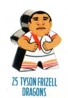 2018 NRL Xtreme Mini Footy Star Base Figurine 25 Tyson Frizell Dragons
