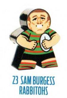 2018 NRL Xtreme Mini Footy Star Base Figurine 23 Sam Burgess Rabbitohs