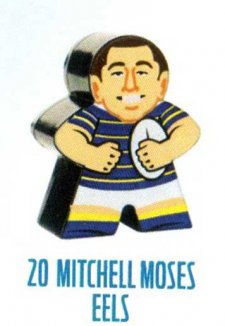 2018 NRL Xtreme Mini Footy Star Base Figurine 20 Mitchell Moses Eels