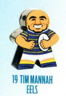 2018 NRL Xtreme Mini Footy Star Base Figurine 19 Tim Mannah Eels