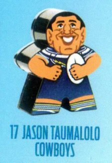 2018 NRL Xtreme Mini Footy Star Base Figurine 17 Jason Taumalolo Cowboys