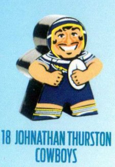 2018 NRL Xtreme Mini Footy Star Base Figurine 18 Johnathan Thurston Cowboys