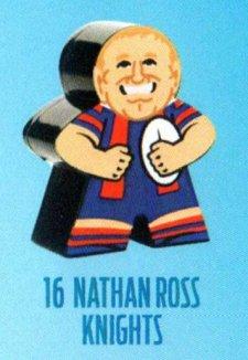 2018 NRL Xtreme Mini Footy Star Base Figurine 16 Nathan Ross Knights