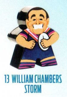 2018 NRL Xtreme Mini Footy Star Base Figurine 13 William Chambers Storm