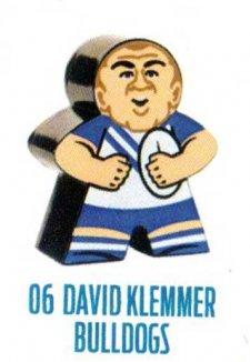 2018 NRL Xtreme Mini Footy Star Base Figurine 6 David Klemmer Bulldogs