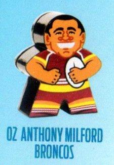 2018 NRL Xtreme Mini Footy Star Base Figurine 2 Anthony Milford Broncos