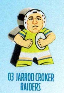 2018 NRL Xtreme Mini Footy Star Base Figurine 3 Jarrod Croker Raiders