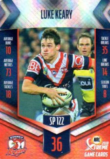 2018 NRL Xtreme Special Parallel SP122 Luke Keary Roosters