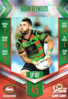 2018 NRL Xtreme Special Parallel SP107 Adam Reynolds Rabbitohs