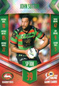 2018 NRL Xtreme Special Parallel SP108 John Sutton Rabbitohs