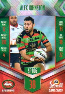 2018 NRL Xtreme Special Parallel SP106 Alex Johnston Rabbitohs