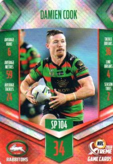 2018 NRL Xtreme Special Parallel SP104 Damien Cook Rabbitohs