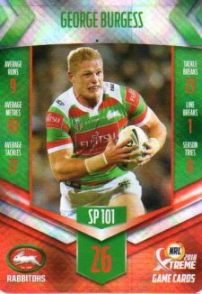 2018 NRL Xtreme Special Parallel SP101 George Burgess Rabbitohs