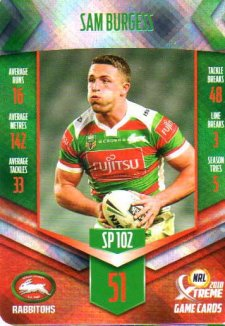 2018 NRL Xtreme Special Parallel SP102 Sam Burgess Rabbitohs
