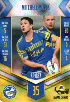 2018 NRL Xtreme Special Parallel SP87 Mitchell Moses Eels
