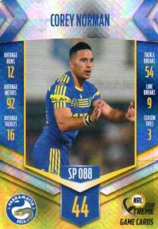 2018 NRL Xtreme Special Parallel SP88 Corey Norman Eels