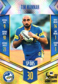2018 NRL Xtreme Special Parallel SP85 Tim Mannah Eels