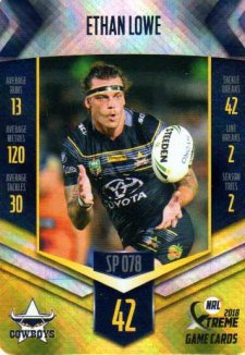 2018 NRL Xtreme Special Parallel SP78 Ethan Lowe Cowboys