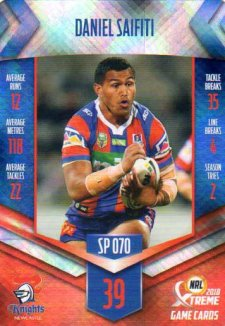 2018 NRL Xtreme Special Parallel SP70 Daniel Saifiti Knights