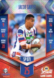 2018 NRL Xtreme Special Parallel SP71 Jacob Saifiti Knights