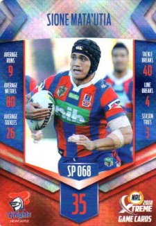 2018 NRL Xtreme Special Parallel SP68 Sione Mata'Utia Knights