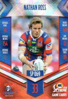 2018 NRL Xtreme Special Parallel SP69 Nathan Ross Knights