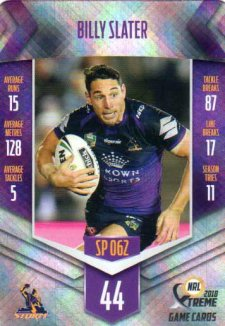 2018 NRL Xtreme Special Parallel SP62 Billy Slater Storm