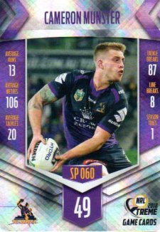 2018 NRL Xtreme Special Parallel SP60 Cameron Munster Storm