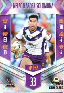 2018 NRL Xtreme Special Parallel SP57 Nelson Asofa-Solomona Storm