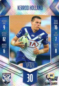 2018 NRL Xtreme Special Parallel SP23 Kerrod Holland Bulldogs